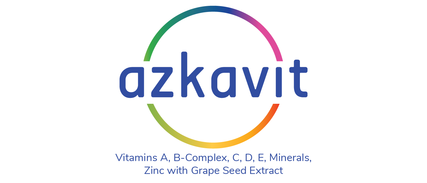 Azkavit Vitamins A, B-Complex, C, D, E, Minerals, Zinc with Grape Seed Extract